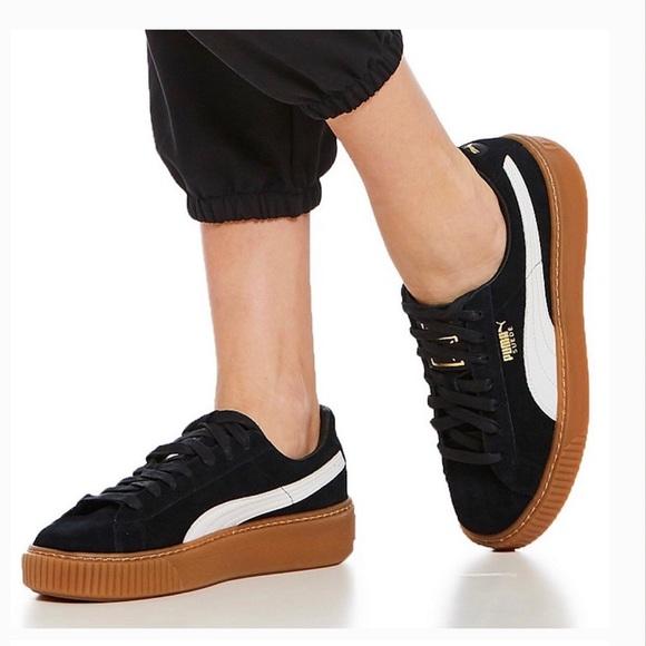 Suede Gum Sole Platform Sneaker   Poshmark